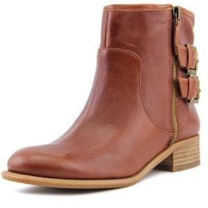 "Nine West ""Just This"" cognac ankle boots"